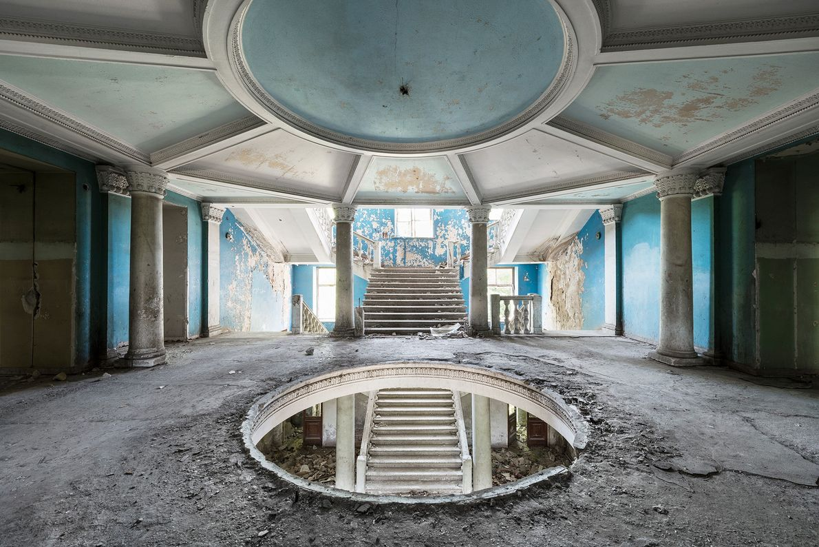 The grand entrance hall of this neglected sanatorium will be redeveloped into a luxurious hotel.