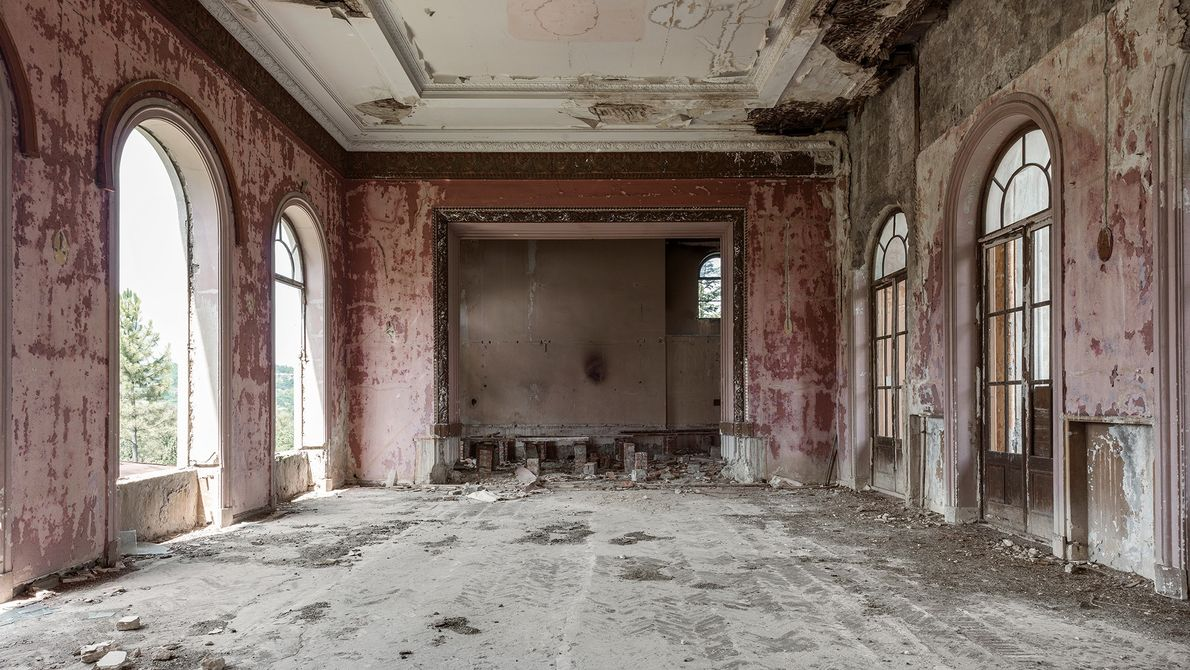 This theatre would have had curtains and a wooden stage, but these features disappeared over time.