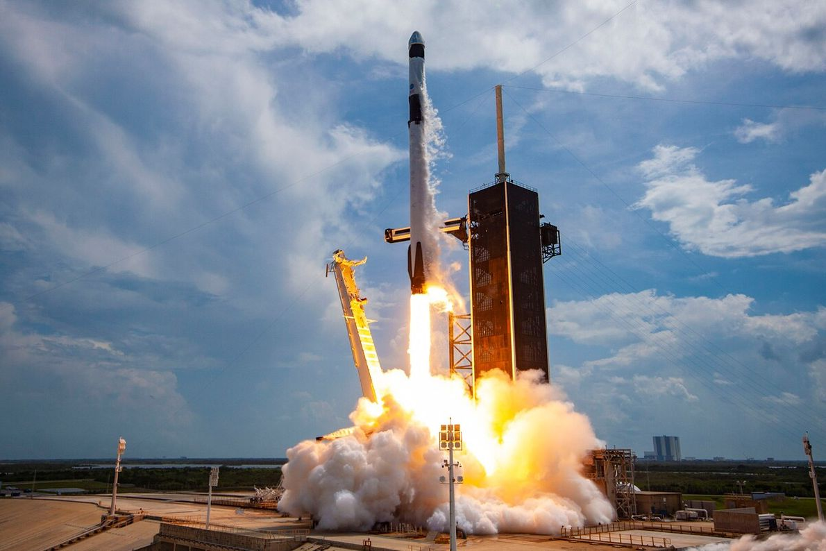 On May 30 in Cape Canaveral, Florida, SpaceX launched the first U.S. astronauts into space from ...