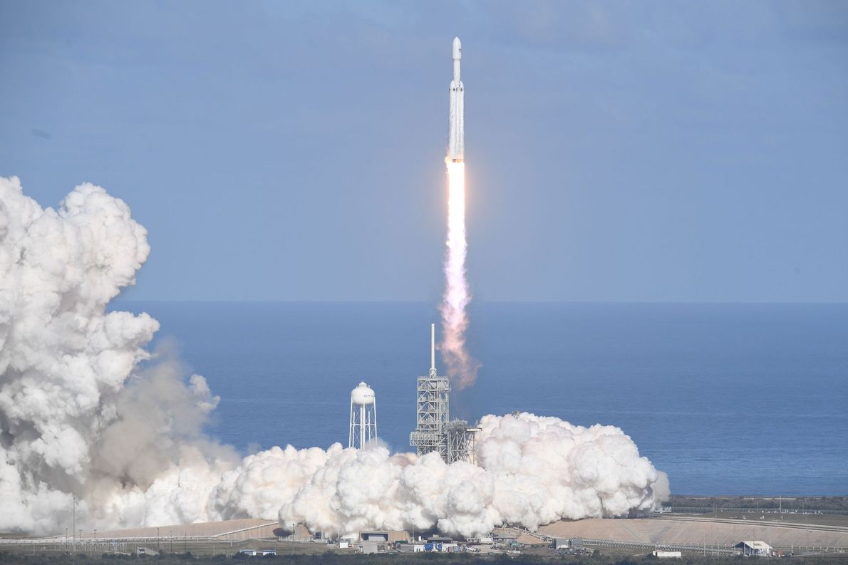 Falcon Heavy Rocket Makes History With Successful First Launch