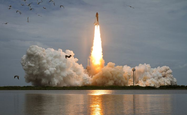 Space shuttle Atlantis launches from Launch Complex 39A on Friday, July 8, 2011, at NASA's Kennedy ...