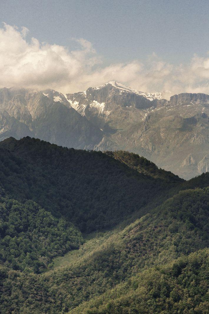 View towards Picos de Europa from Mirador del Zorro