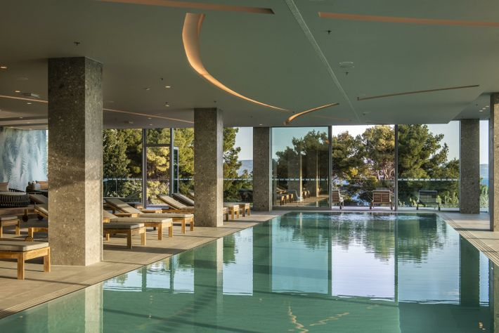 The newly revamped Spalato Spa is home to a steam room, relaxation spaces, warm and cold ...