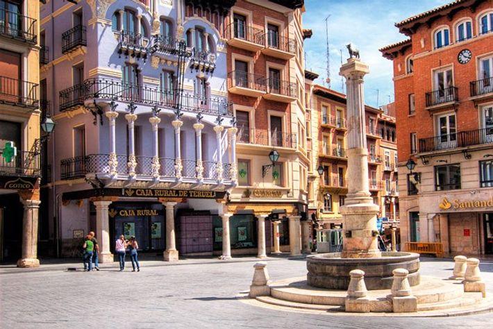 Plaza del Torico, Teruel. Image: Getty