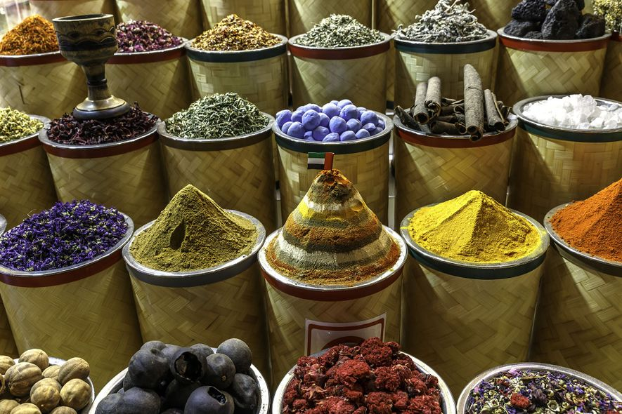 Omani spices play a key role in the county's cuisine and can be found is local souks.