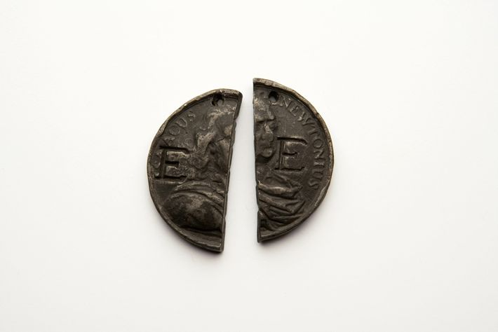 This split-coin token is in the collection of the Foundling Museum.