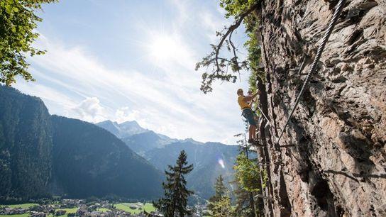 Rock climbing in Zillertal