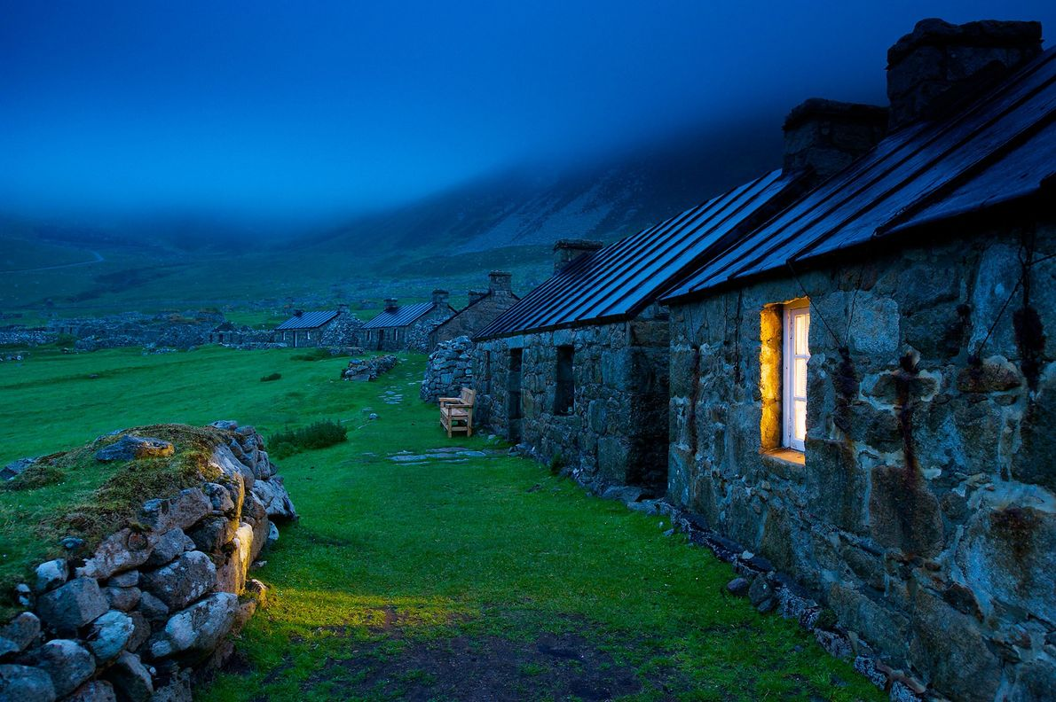 A stone village house on St. Kilda.