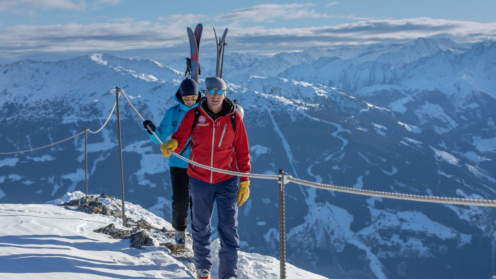 Hut-to-hut skiing