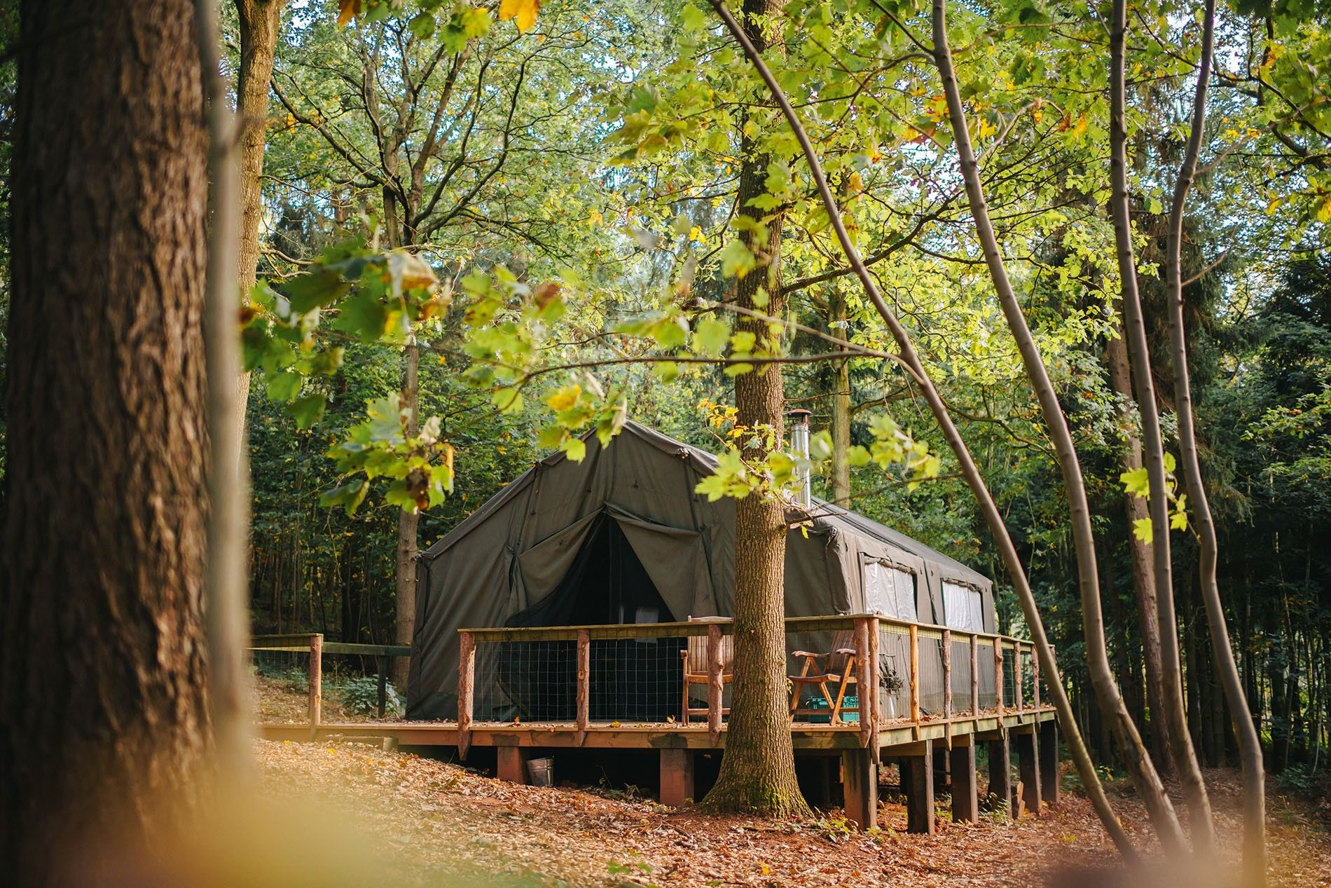 For the chance to switch off and bond as a family, Quality Unearthed offer off-grid glamping in an ex-military safari tent.