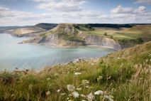 Chapman's Pool on the Jurassic Coast in Dorset is ideal for fossil hunting.