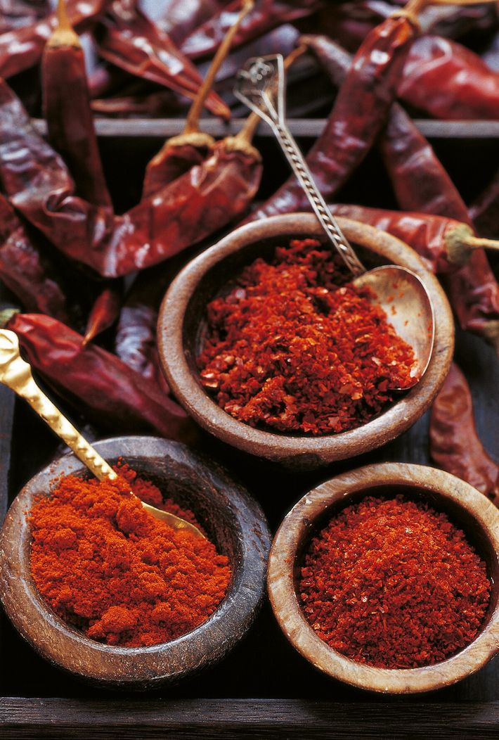 Pul biber, a moderately hot, fruity, finely chopped dried chilli that's found in every kitchen and ...