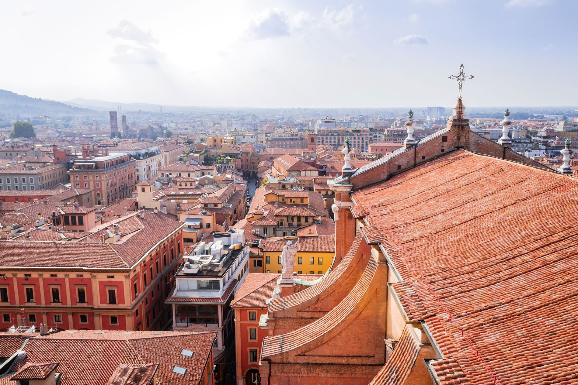 View of Lucca's rooftops