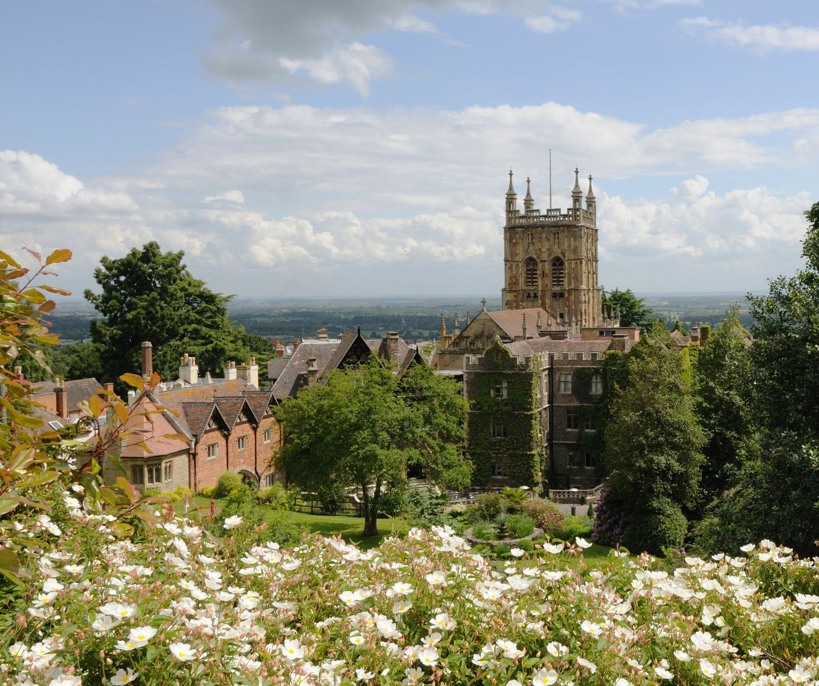 Malvern Priory and The Abbey hotel in Great Malvern. The handsome town makes the ideal base for ...