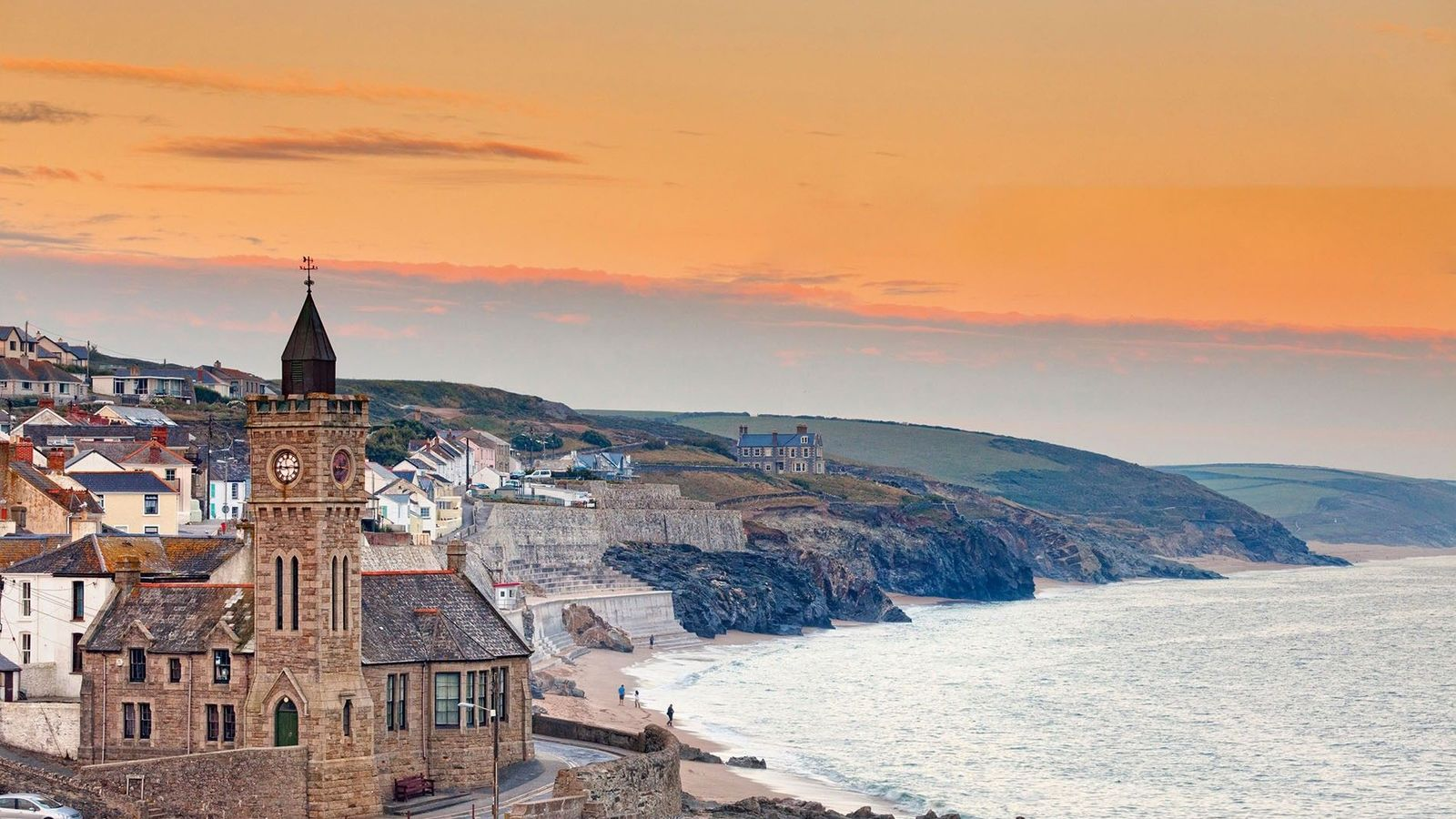 Along the coast of Porthleven.