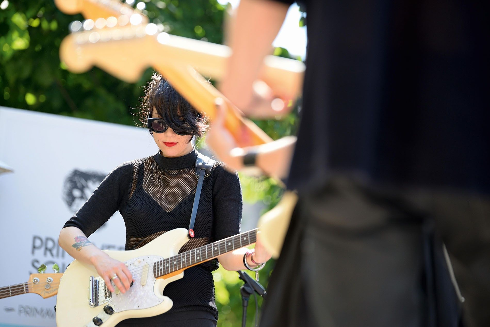 Dum Dum Girls, a rock band from Los Angeles, play at Primavera Sound 2014 festival.