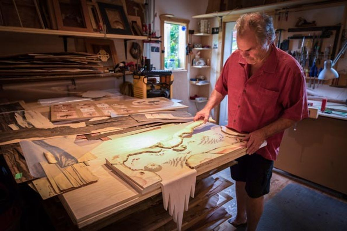 Stephen Haigh is a master in the field of marquetry (wood inlay). His work is treasured ...