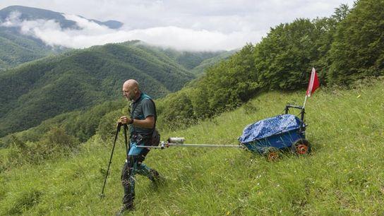 Armadillo trekking in Tuscany.