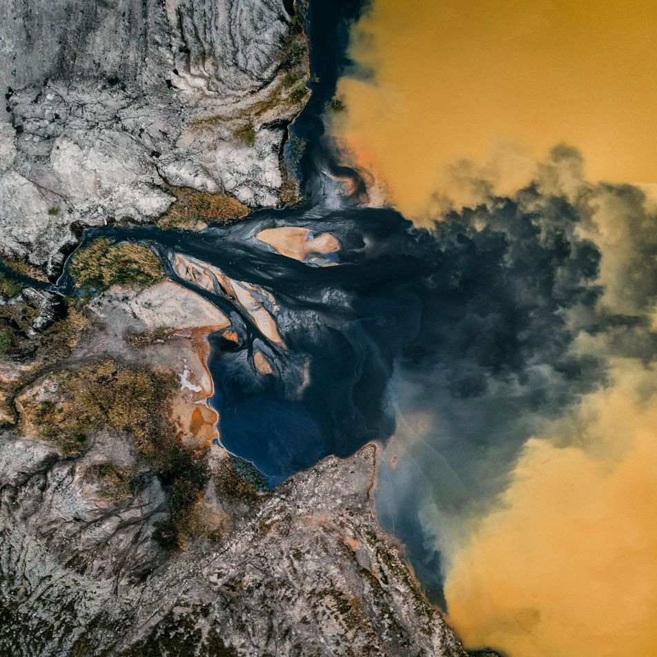Eye-catching abstract photos reveal mining's scars on our planet