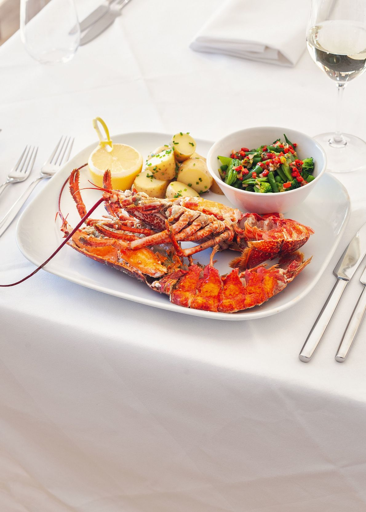 Dining on fresh lobster at The Tolbooth Seafood Restaurant, overlooking Stonehaven Harbour. The lobster seasons runs ...