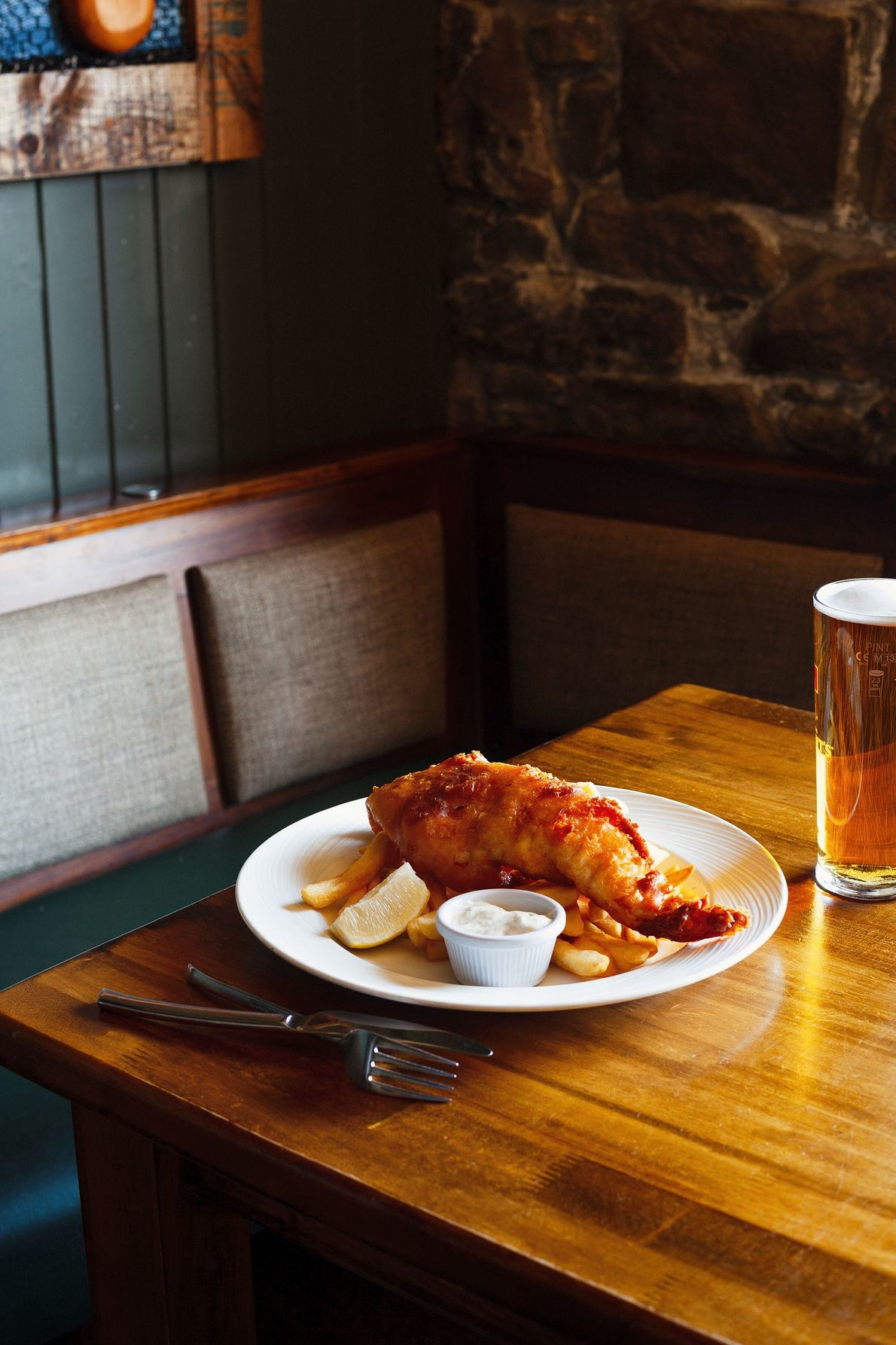 The Marine Hotel is one of several places in Stonehaven where you can get excellent fish ...
