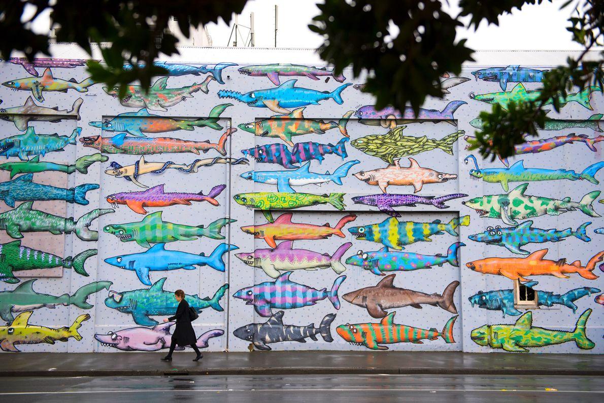 Central Wellington comes alive with unique street art.