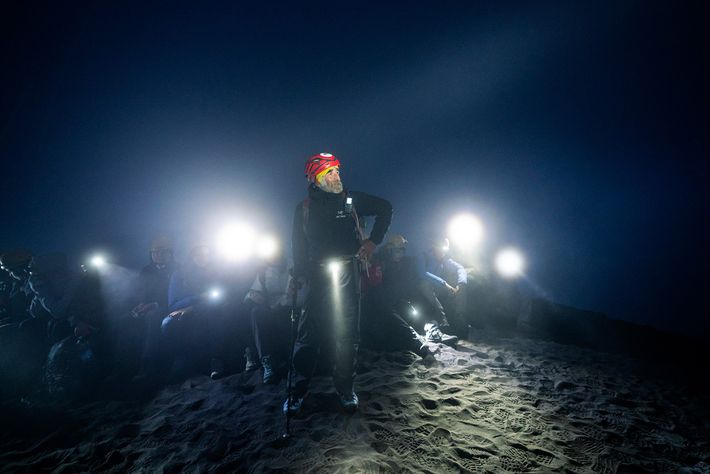 Hiking guide Mario Zaia has lived on Stromboli for over 30 years. He makes an annual ...