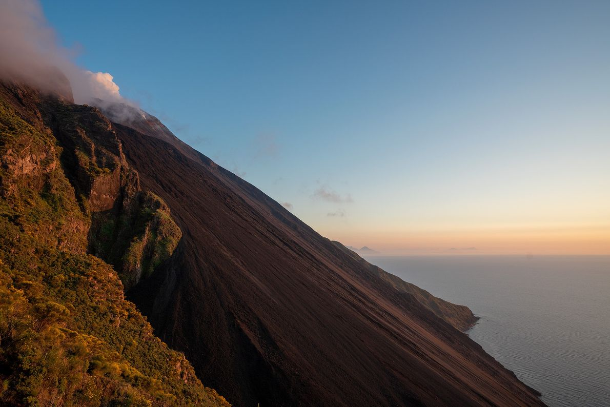 Stromboli is one of the few continuously active volcanoes where visitors can see eruptions up close, ...