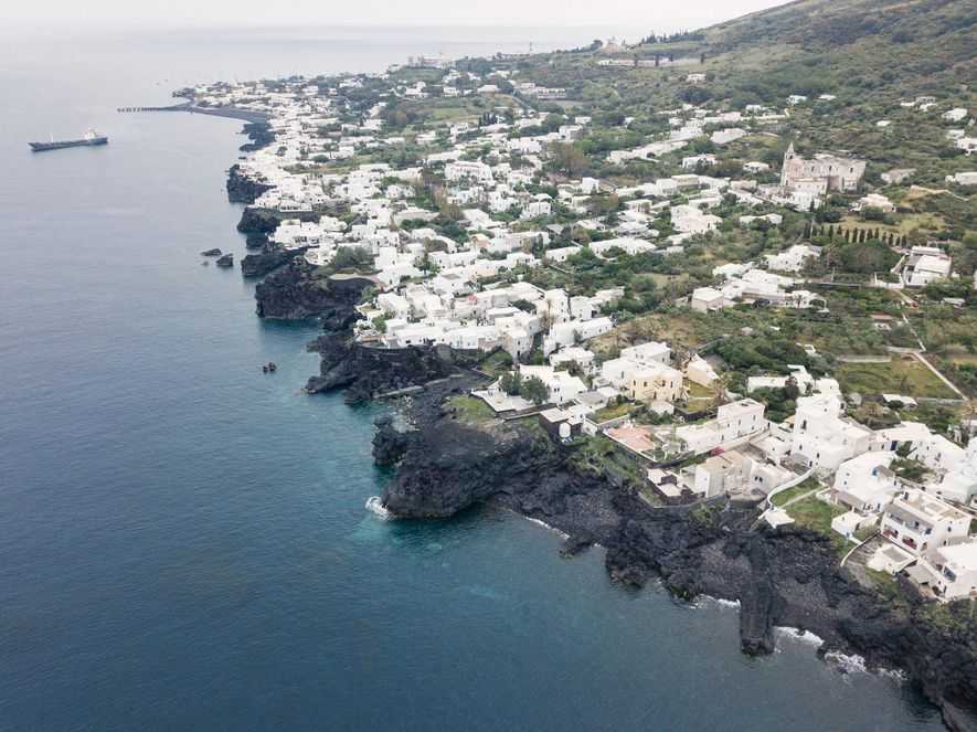 A few hundred island residents make their homes in two villages, Stromboli and the tiny, former ...