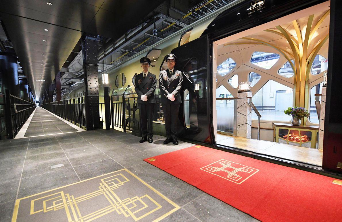 Japan's Train Suite Shiki-shima has just 10 cabins and serves up kaiseki cuisine created by Katsuhiro ...