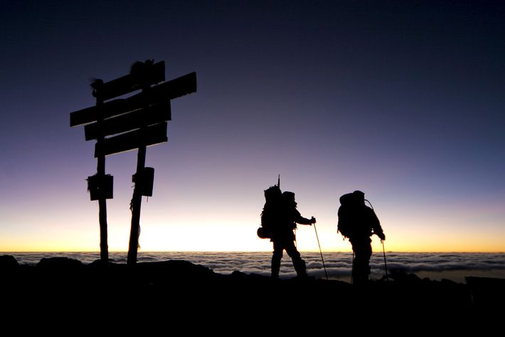Take your summit photo quickly then start the descent to move from the thin air and ...
