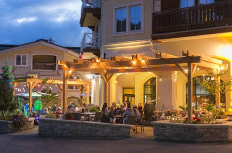 After a day of biking, enjoy a relaxing evening at one of Sun Peaks Resort's restaurants.