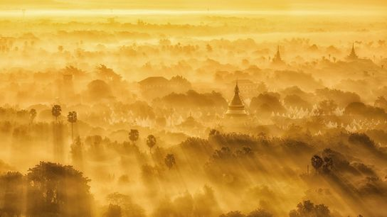 """""""First time visit to Mandalay and we were very lucky. We went to this mountain in ..."""