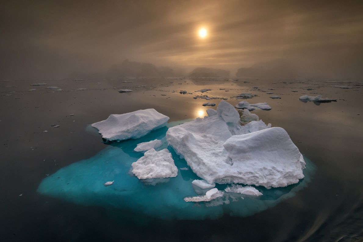 Just off the western coast of the island, Ilulissat Icefjord has the largest collection of icebergs ...
