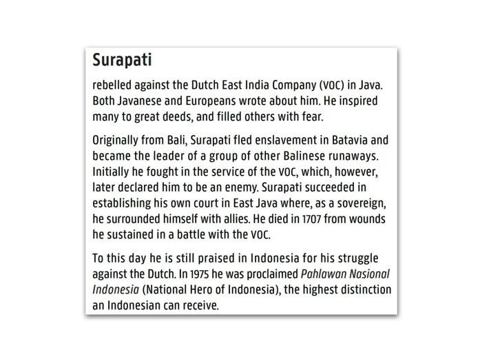 An interpretive label near the painting explains the significance of Surapati, a figure often overlooked in ...