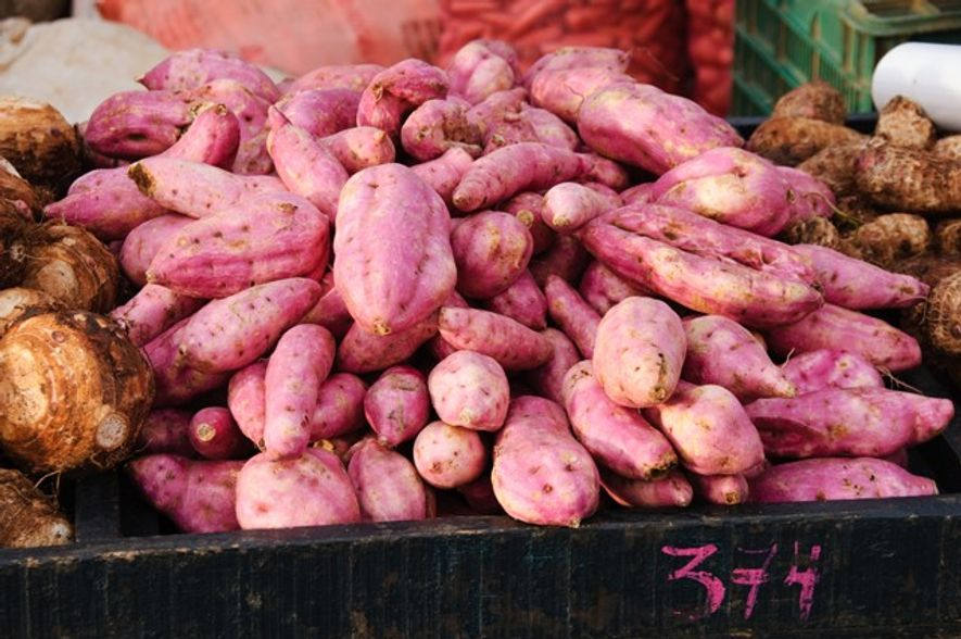 Sweet potatoes, a staple food of the costa rican cuisine