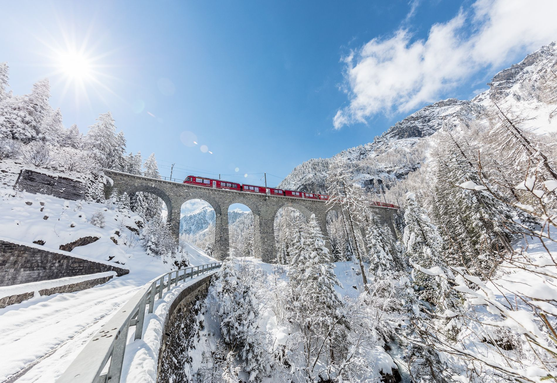Switzerland ski train