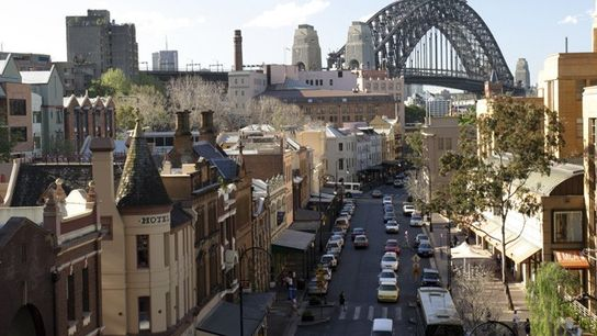 The Rocks and Sydney Harbour Bridge