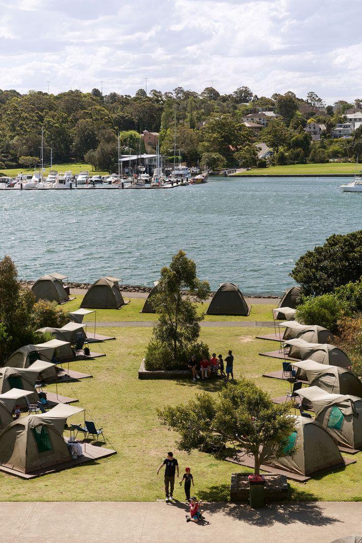 Cockatoo Island's urban campsite