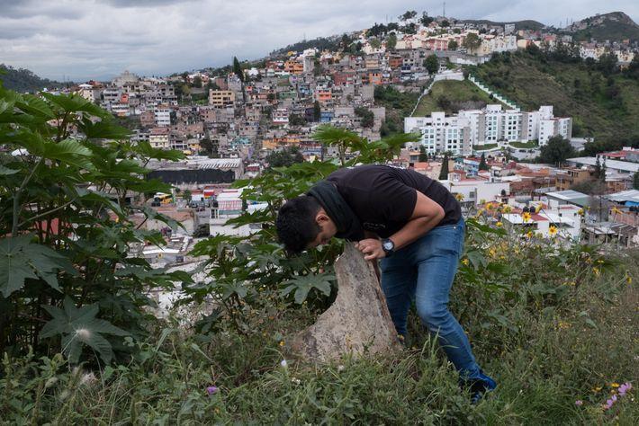 Victor Daniel Gutierrez Martinez leaves no stone unscrutinised as he hunts for tarantulas near his house ...