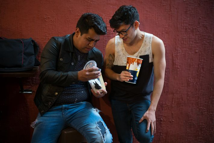 Tarantula enthusiasts gather at a bar in Mexico City's Morelos market to strut their spiders.  ...