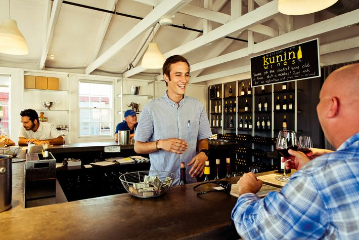 Kunin Wines is a shack-like bar that looks like it's been transplanted from the bayous of ...