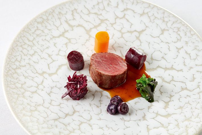 Snowdonia venison served with blueberries at the Grove hotel's Fernery restaurant.