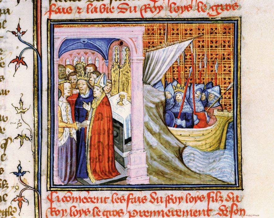 The marriage of young Eleanor of Aquitaine and the future King Louis VII in 1137 is ...