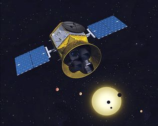 This is a conceptual image of the TESS mission to hunt exoplanets.