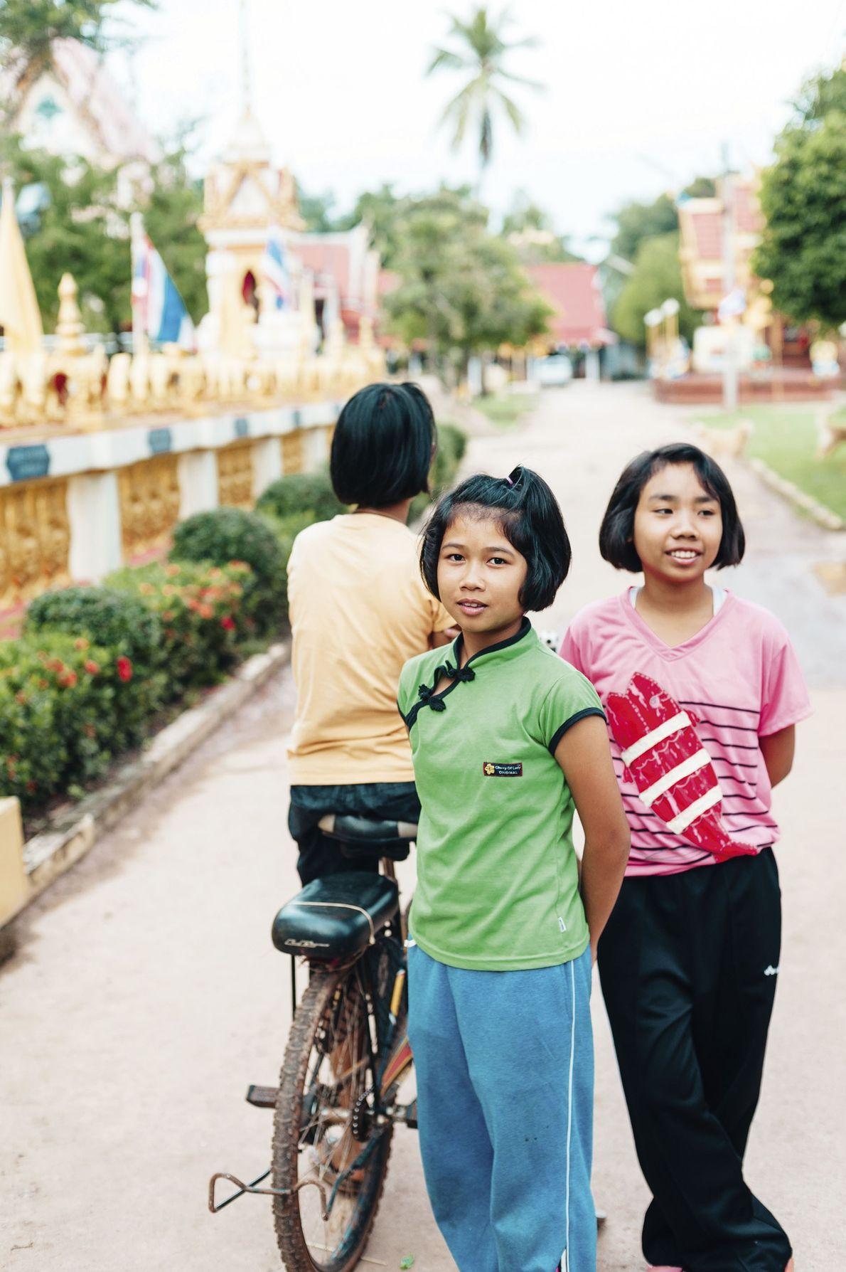Three local girls