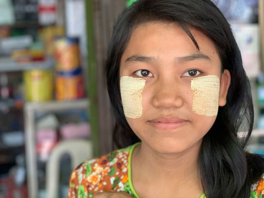 In Myanmar, everyone swears by this natural skin cosmetic