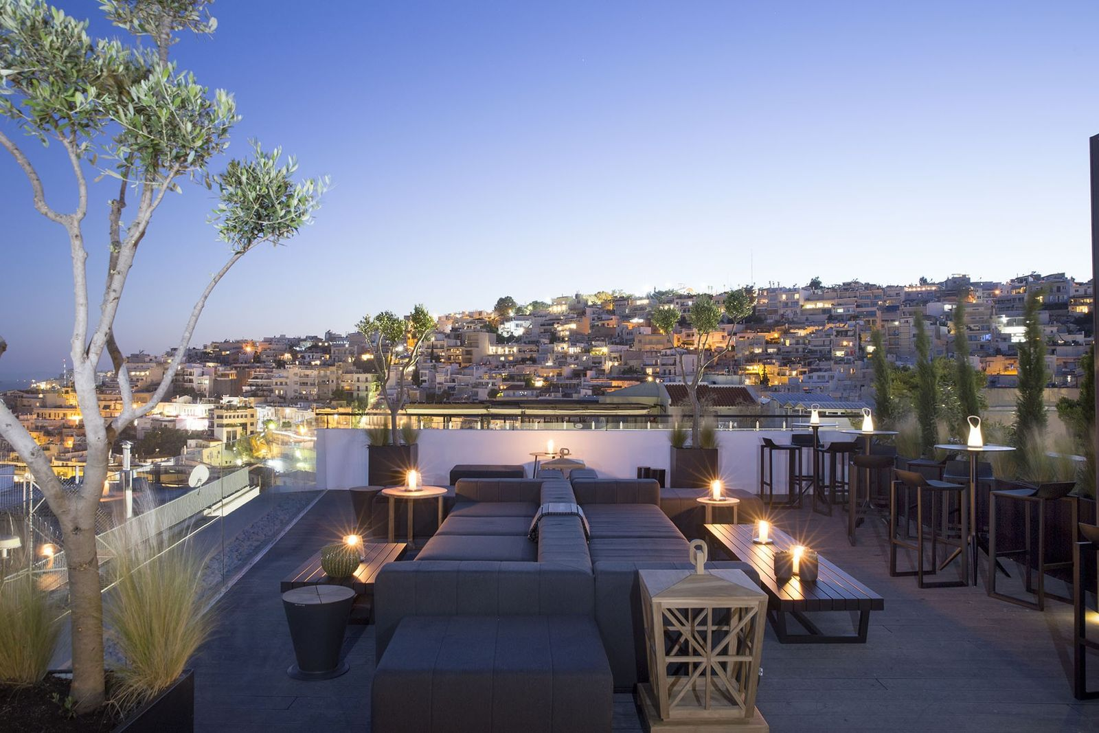 The Nest terrace at The Alex hotel