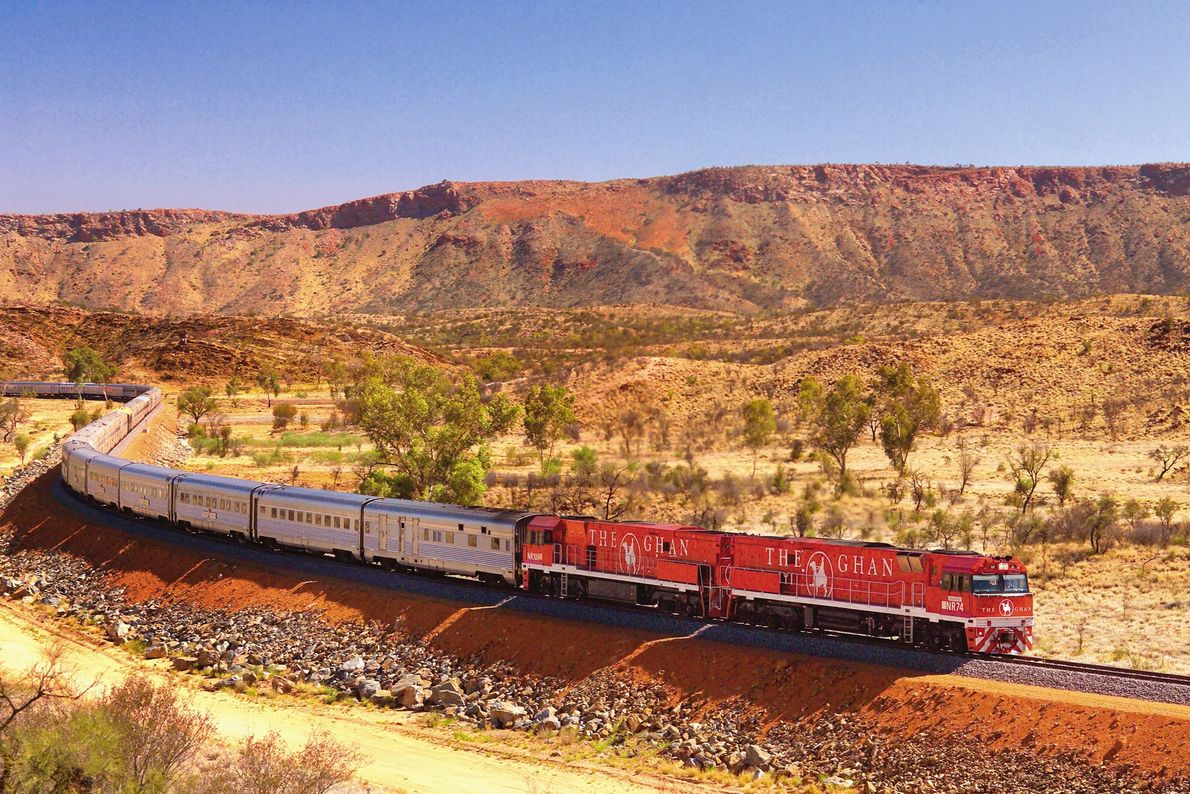 Pack hiking boots and binoculars to explore Alice Springs on The Ghan, which runs north to ...