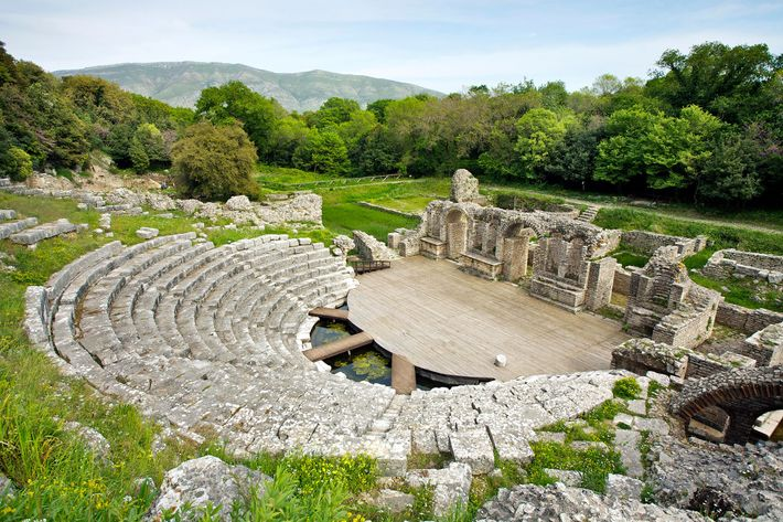 World Heritage site at Butrint, Albania